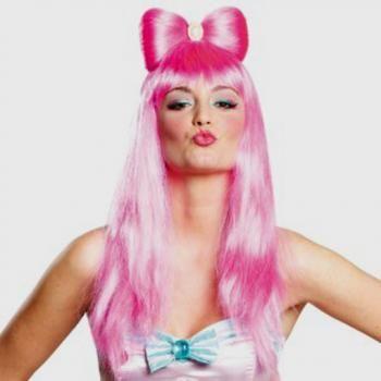 Candygirl Perucke Zuckersusse Rosa Langhaarperucke Im Candy Girl