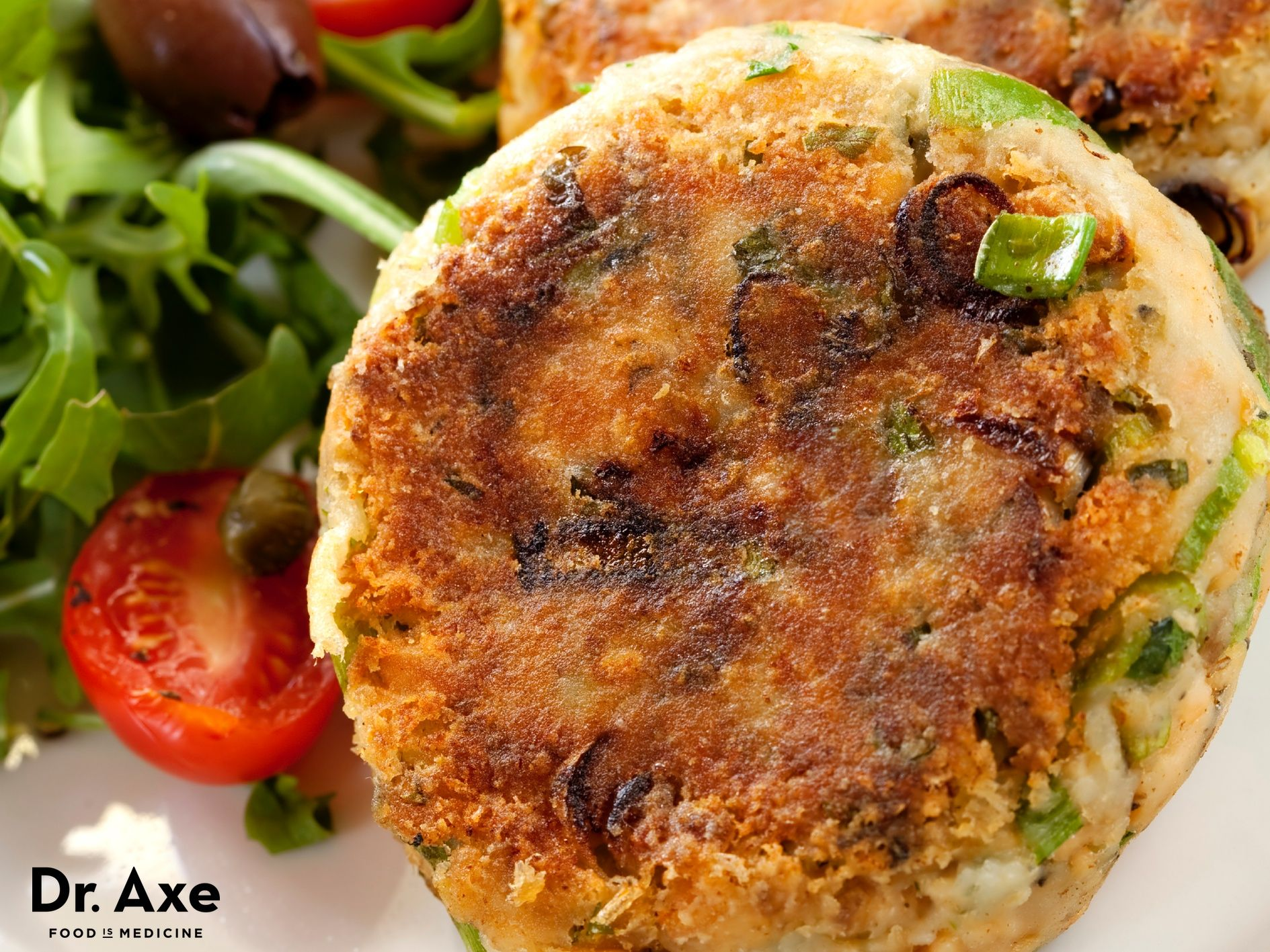 Salmon Patties Recipe http://www.draxe.com #salmon #dinner #recipe #hormones