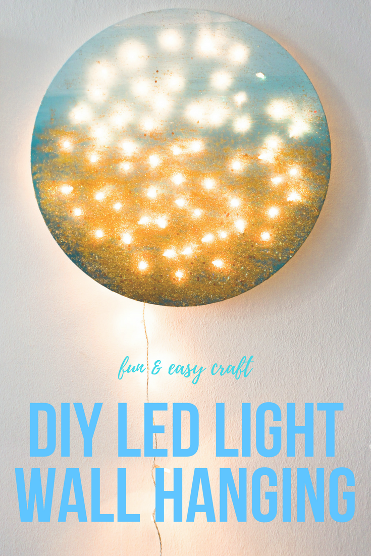 DIY LED Light Wall Hanging Project Easy Way to Add Cozy Ambiance to ...