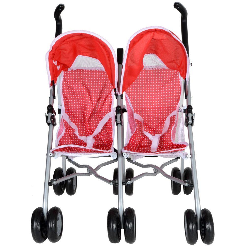 Silver Cross Pop Duo Twin Poppy Toy Dolls Pram Stroller
