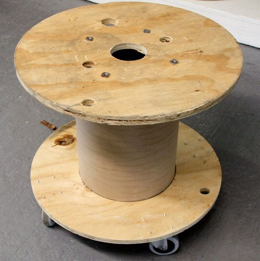Locate A Salvaged Wooden Electric Wire Spool Attach Wheels To The Underside And Then Cover With Tablecloth Make Perfect Moveable Pool Side Beverage
