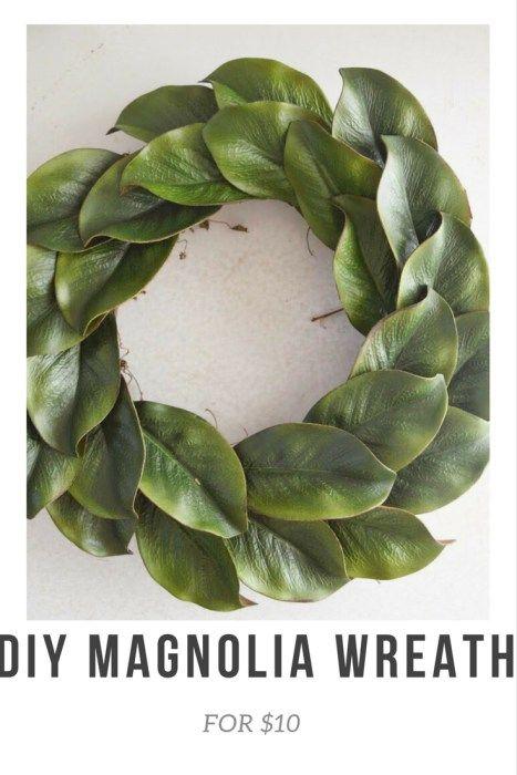 Photo of DIY Magnolia Wreath for $10   Uniquely Taylor Made