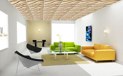 3d Drop Ceiling Panels Are Innovative And Dramatic. Textured Suspended  Ceiling Panels For 3d False