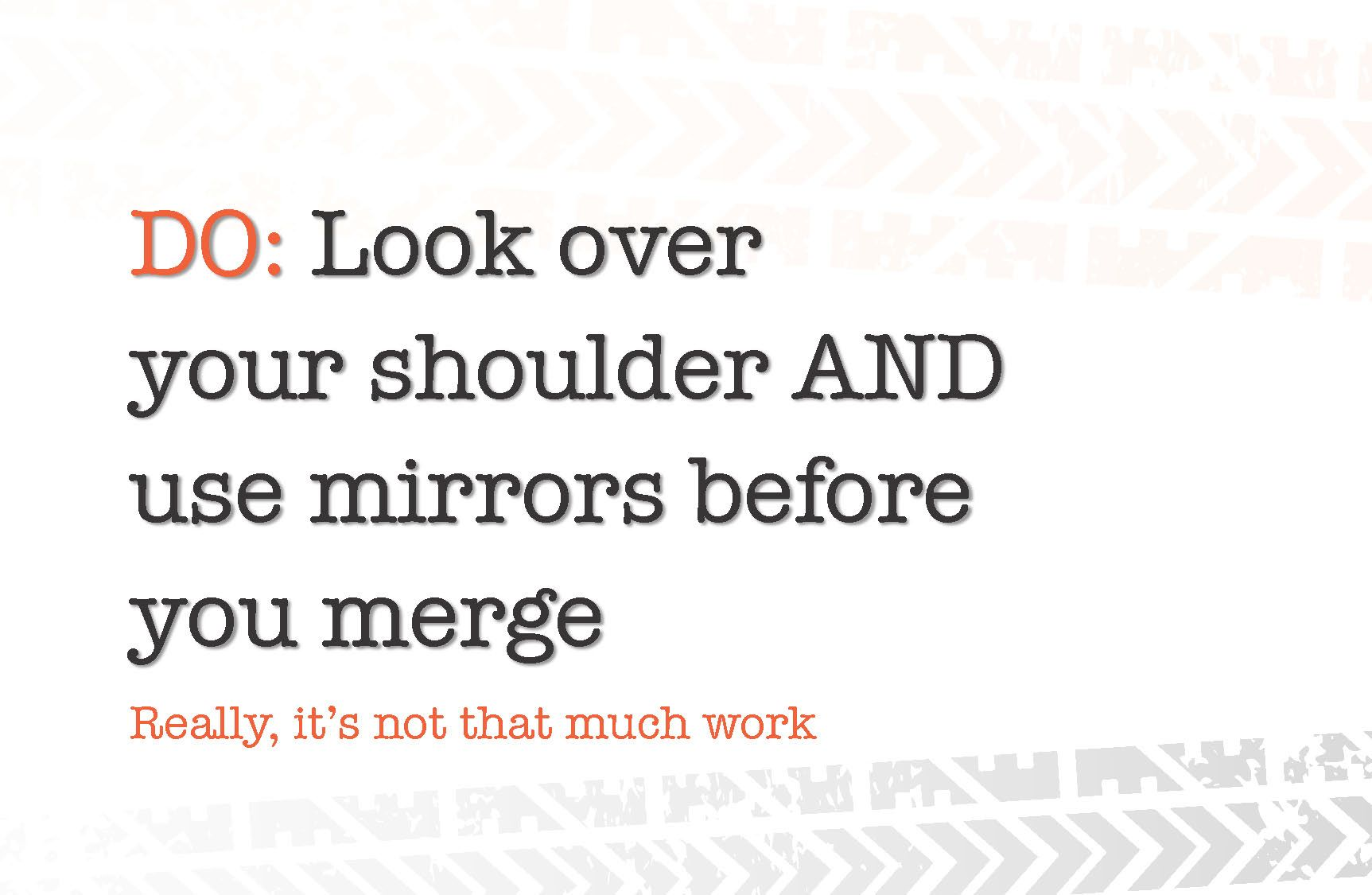 Look Over Your Shoulder And Use Mirrors Before You Merge Learning To Drive Drivers Permit Test Drivers Permit
