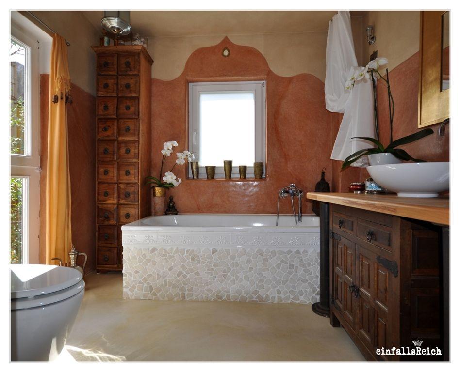 einfallsReich: badezimmer - Tadelakt ueber Fliesen ...
