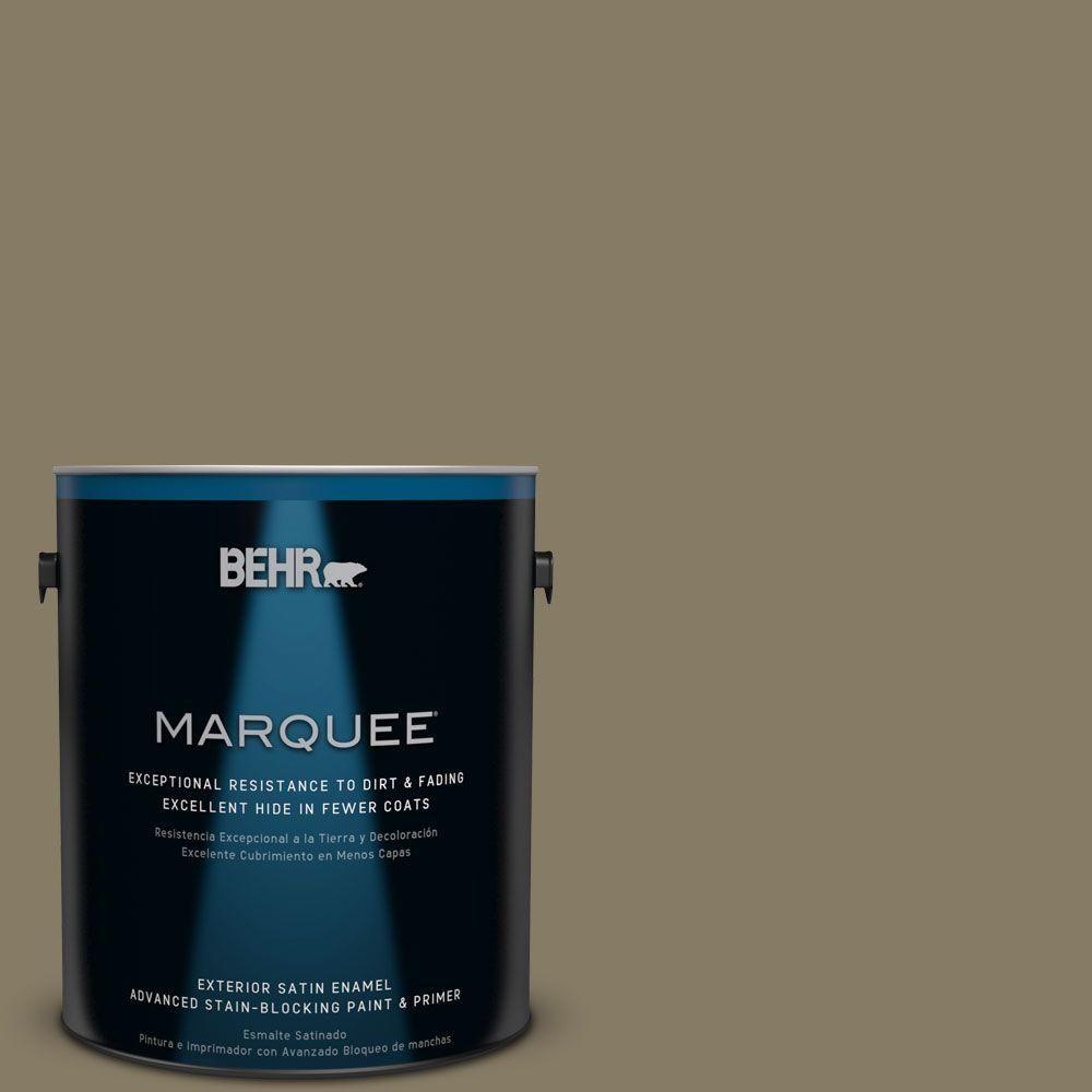 BEHR MARQUEE 1-gal. #ecc-55-3 Olive Sprig Satin Enamel Exterior Paint