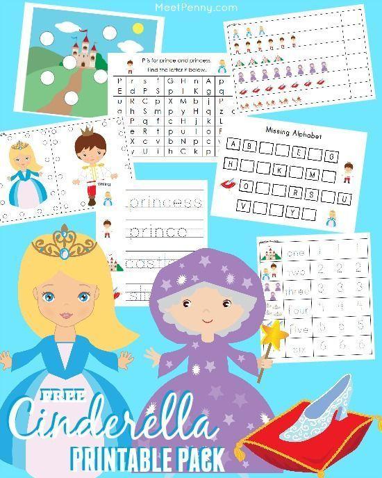 free cinderella prek k printable pack preschool activities preschool printables fairy tale. Black Bedroom Furniture Sets. Home Design Ideas