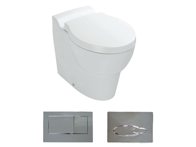 Ove Wall Faced Toilet With Oval Flush Button Wall Hung Toilet Toilet Flush