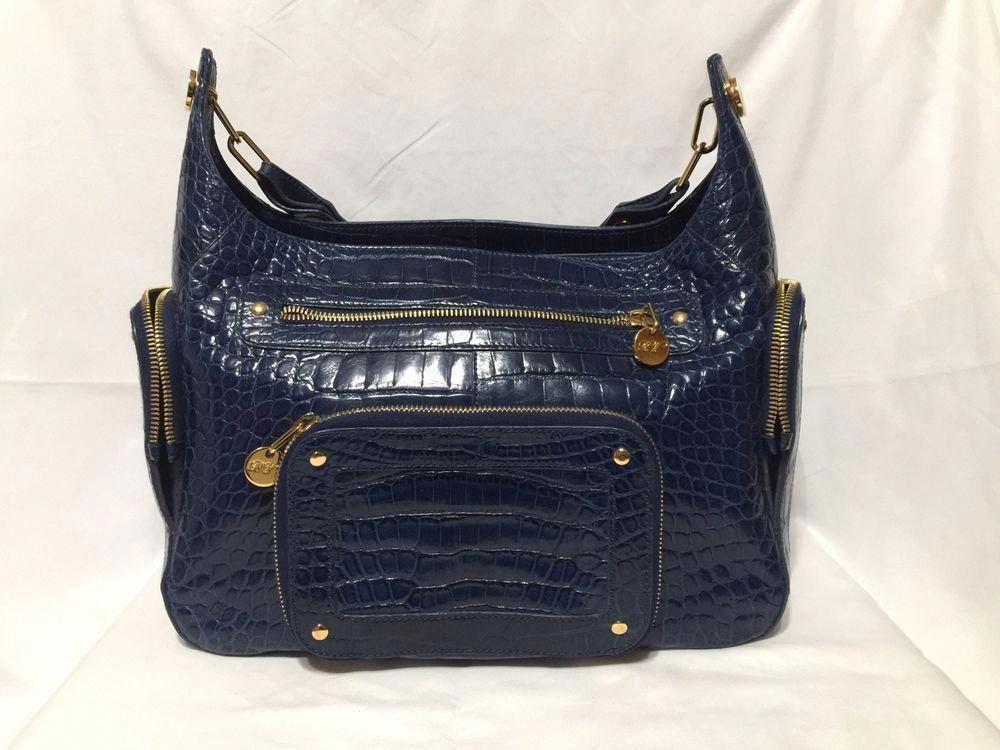 ae7624e8009a ROGER VIVIER Blue Crocodile Shoulder Bag. Gold Hardware Retail  10000   fashion  clothing  shoes  accessories  womensbagshandbags (ebay link)   RogerVivier