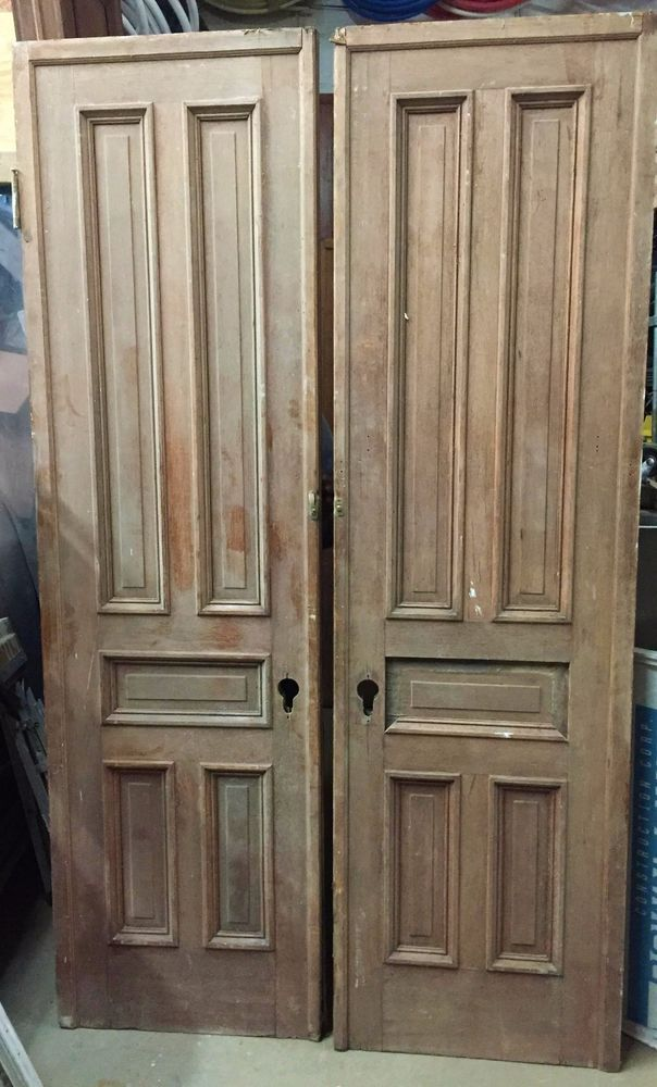Antique / Historic Architectural Salvage Brownstone Pocket Doors & Antique / Historic Architectural Salvage Brownstone Pocket Doors ...