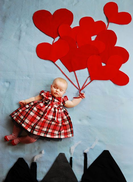 A Valentine S Day Baby Valentines Day Baby Valentines Baby Photos Kids Photoshoot