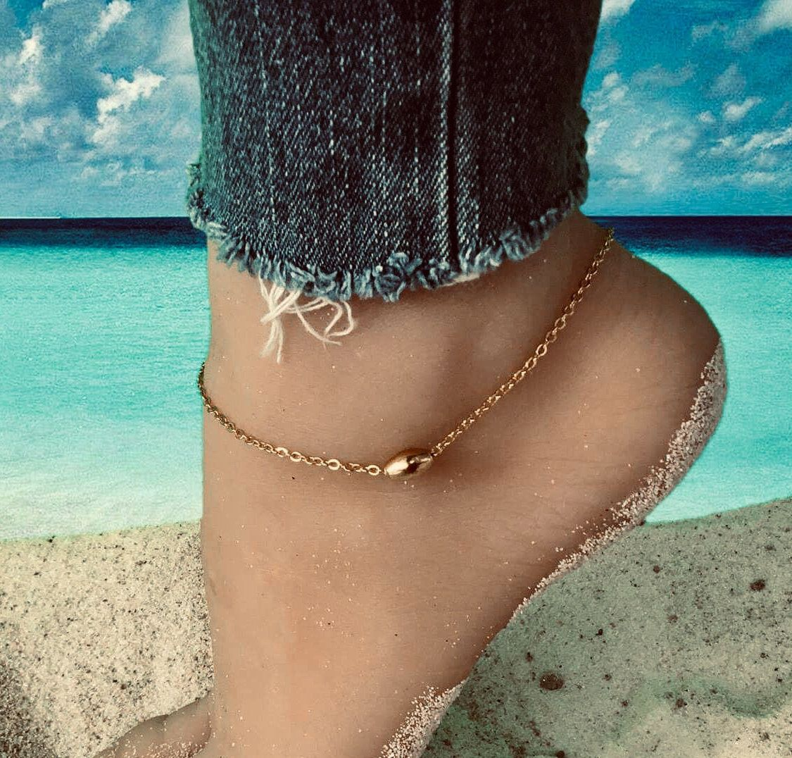 bracelet cheville acier inoxydable