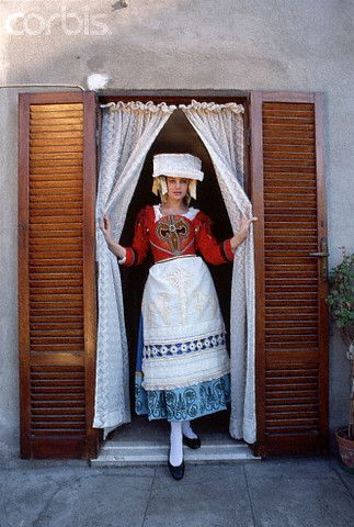 Woman in Traditional Italian Dress - 1991 Anzio    #TuscanyAgriturismoGiratola