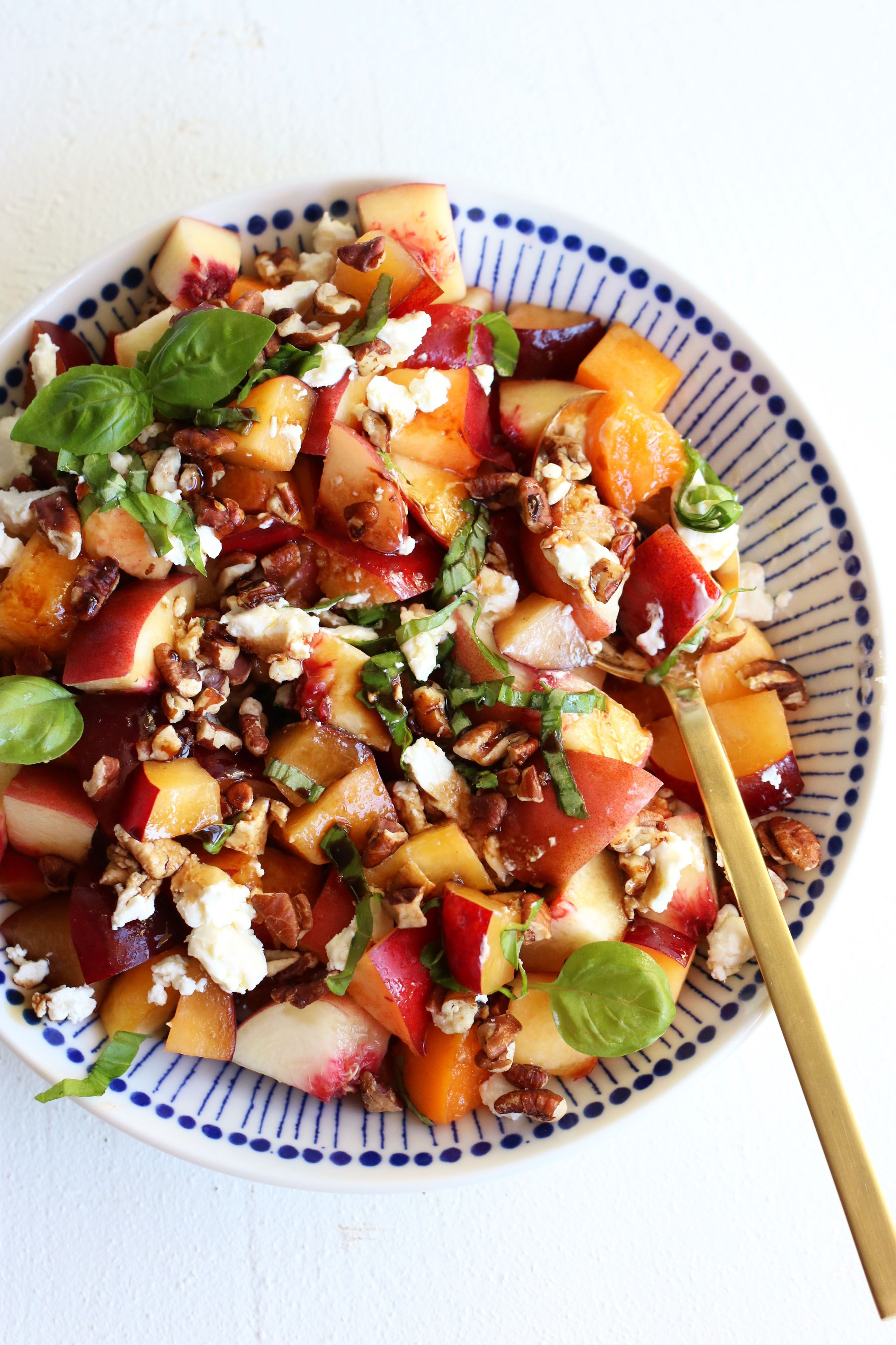 Watch Gingery Grilled Stone Fruit and Cucumber Salad video