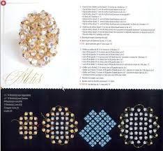 Risultati immagini per schemi anelli perle swarovski