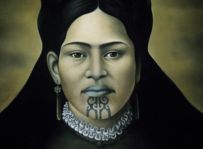 Female Ta Moko On Lips And Chin: 4e86272b8d5b1d2076077c517ddb6b77