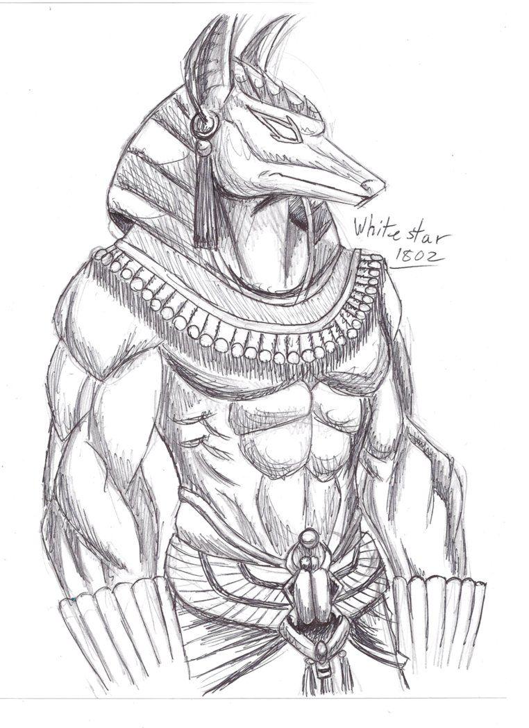 Египетские боги рисунки карандашом