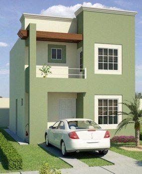 Disenos De Casas En Terrenos Pequenos Fachadas De Casas Modernas Fachada De Casa Fachadas Casas Minimalistas