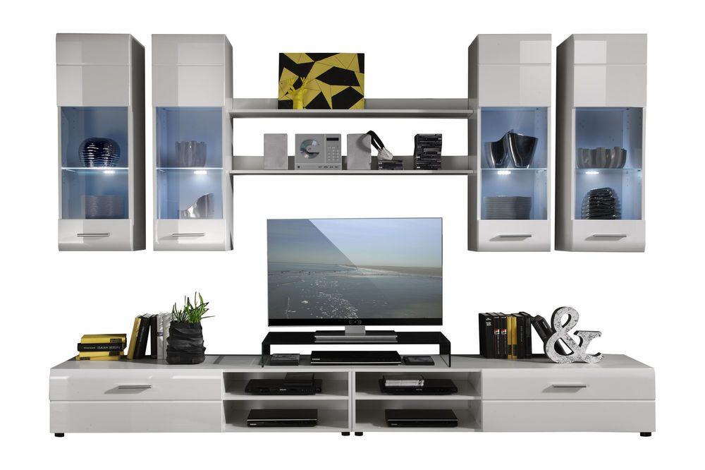 Composizione soggiorno moderno Away, parete di design ...