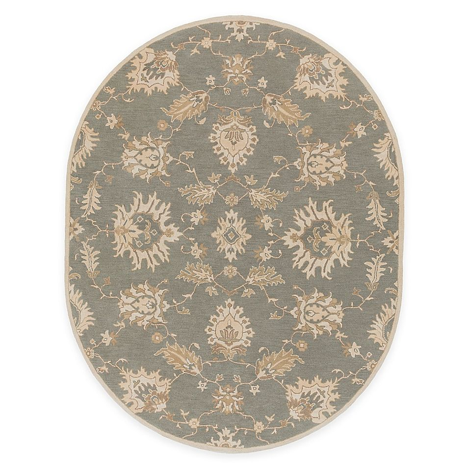 Surya Caesar 6 X 9 Oval Area Rug In Grey Tan Traditional Area