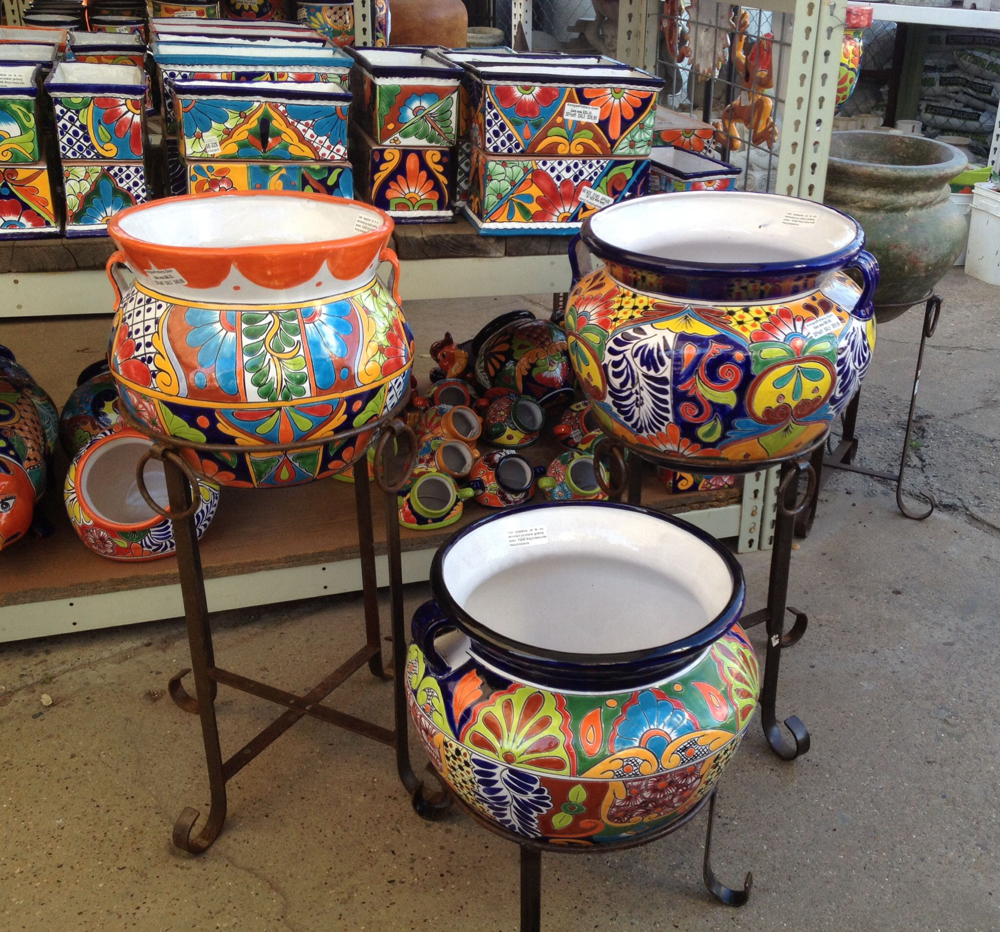Love it    Talavera Pots | Amigos Pottery Garden Ideas in