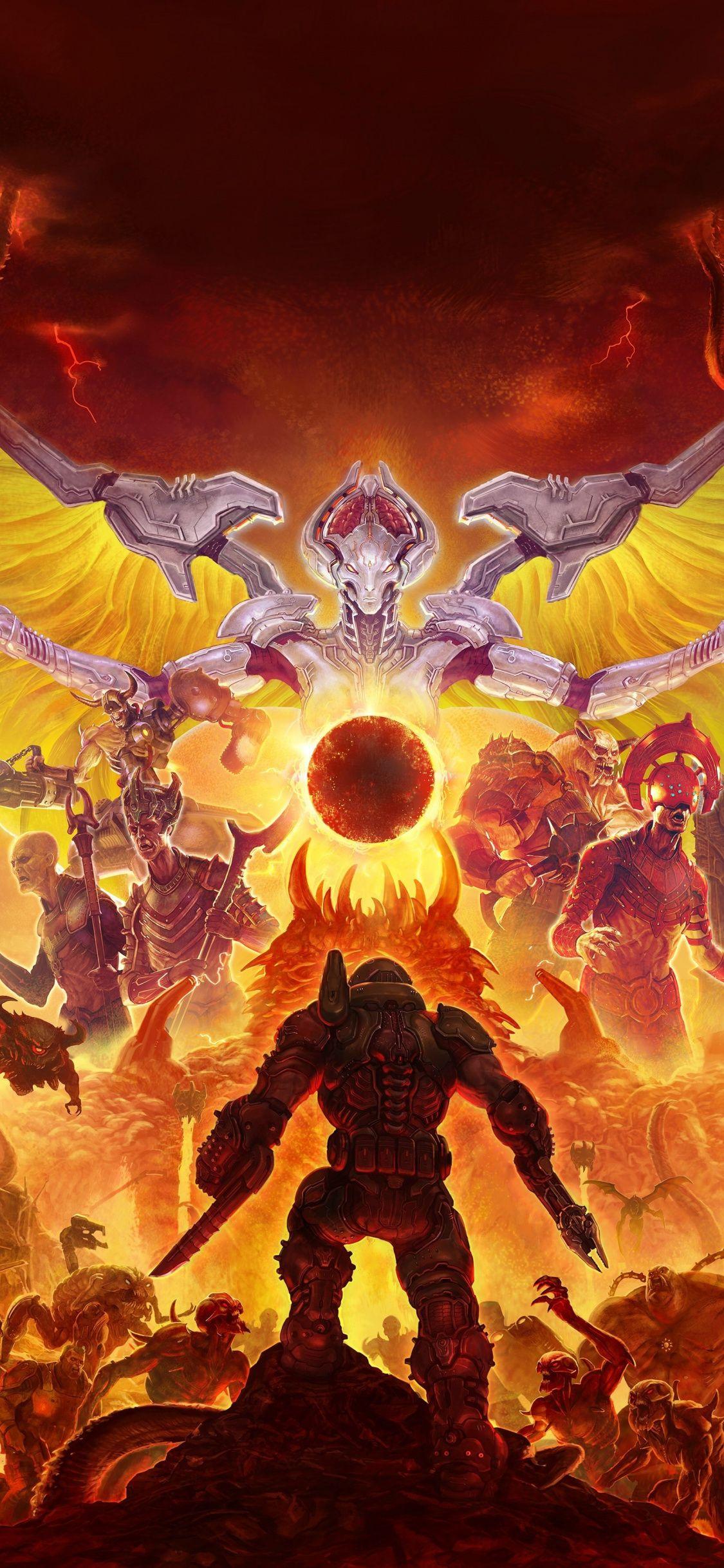 125x2436 Game, warriors, Doom Eternal, 2019 wallpaper