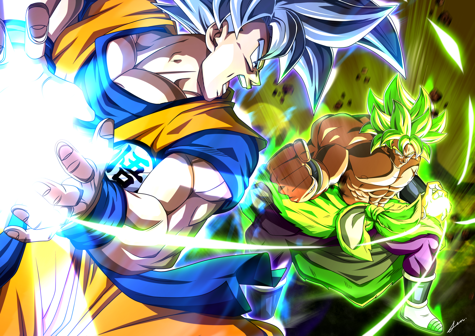 3508x2480 Goku Vs Broly Wallpaper Background Image. View