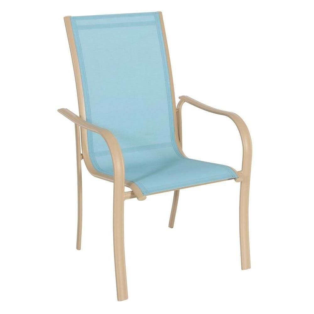Miami Stack Blue Patio Chair-FCA60051-BLUE at The Home Depot | Dream ...