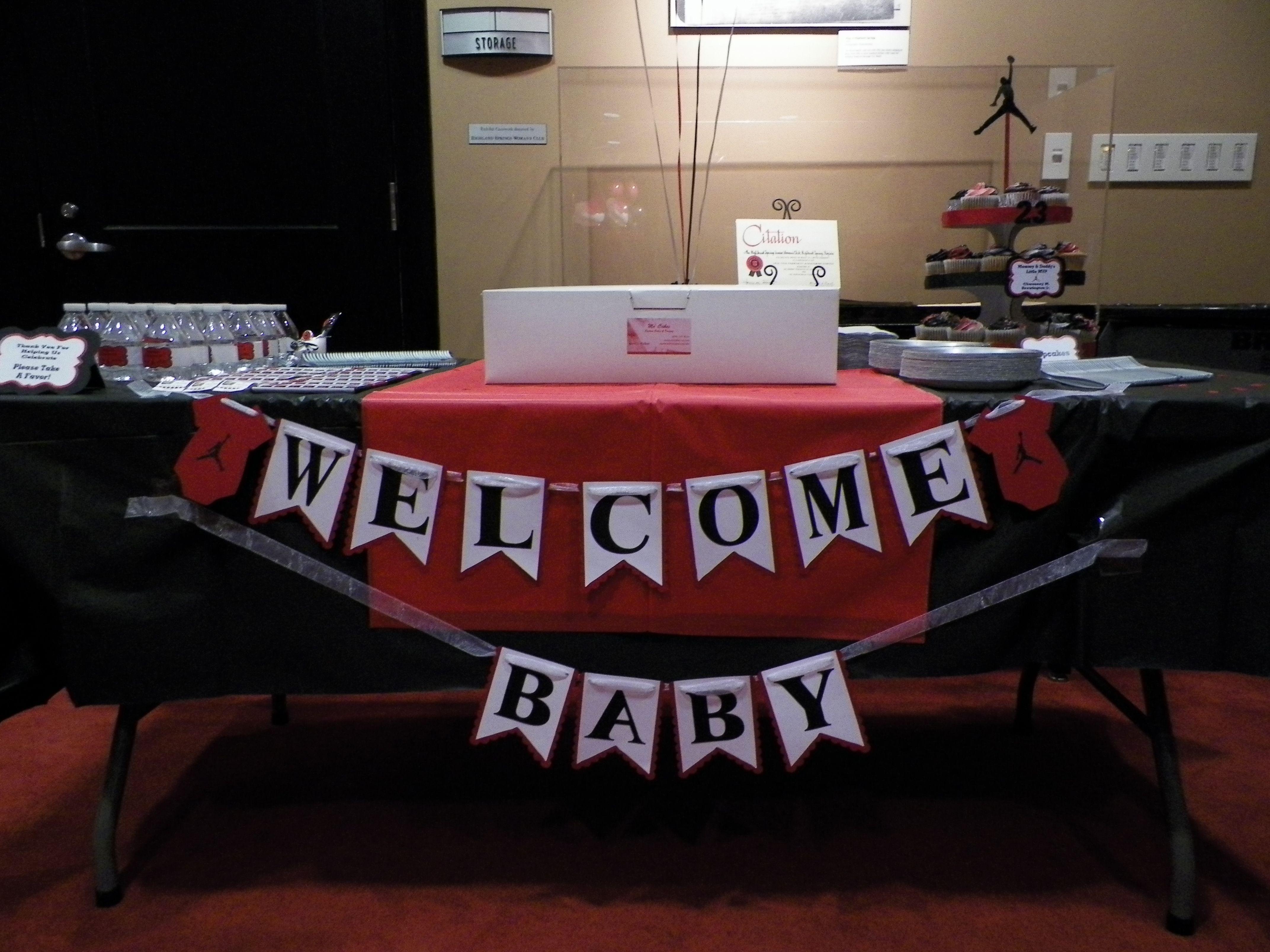 Jordan Theme Baby Shower Banner