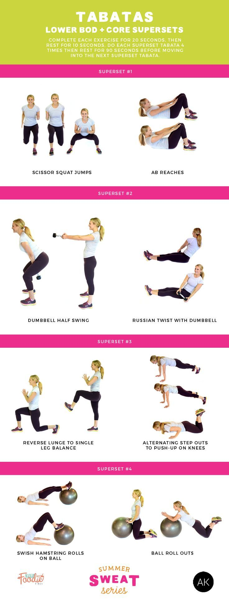 Tabatas Lower Body Core Supersets Summer Sweat Series General Superset Circuit Leg Up On Fitness Pinterest Want A Quick Yet Effective Workout Do This Mixes And Exercises Will Get Your Heart Pounding