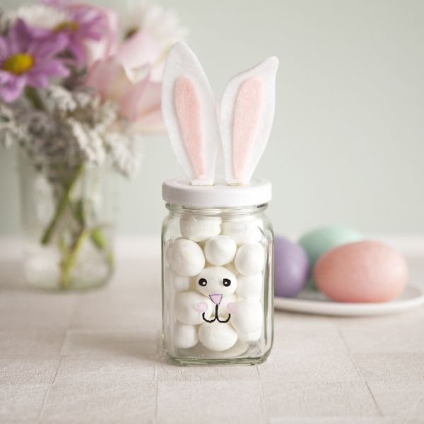 Ostern basteln ideen kinder hase eier frben deko ideen pastel easter bunny jars diy easter crafts for kids holiday gift ideas negle Images
