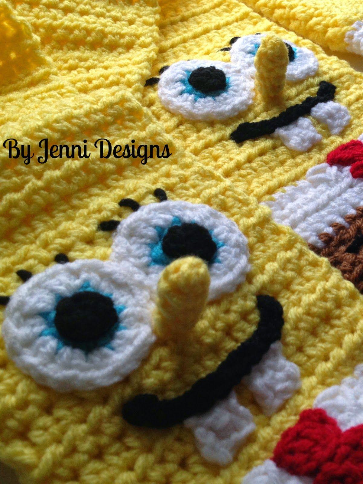 By Jenni Designs: Spongebob Squarepants Inspired Scarf Pattern ...