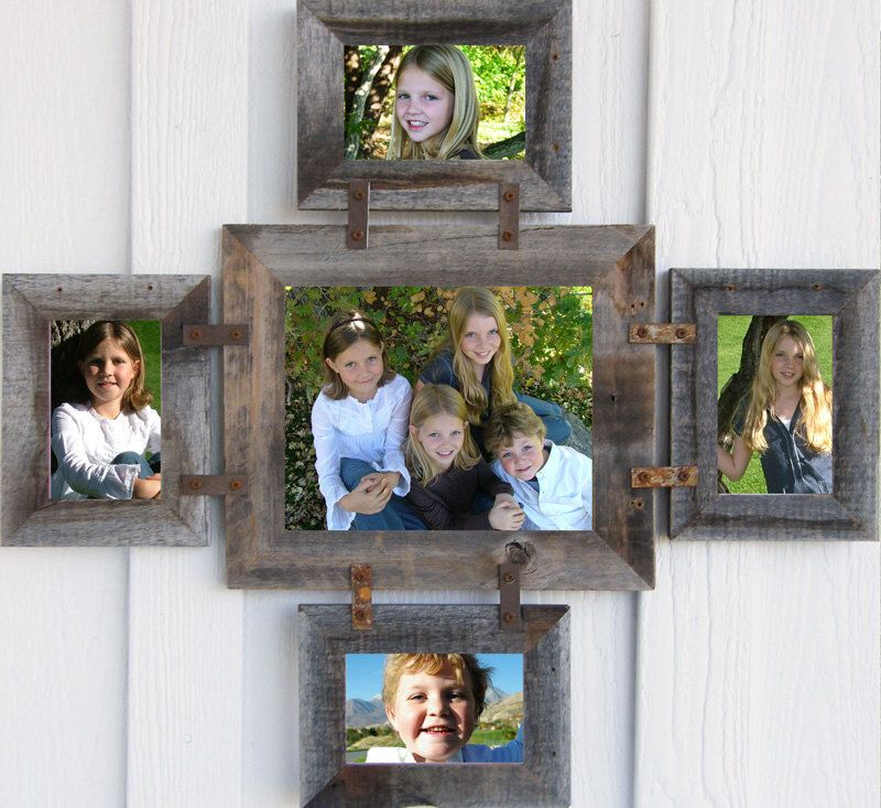 1 8x10 4 4x6 5 Openings Collage Multi Picture Frame Reclaimed Barn Wood Rustic Farmhouse Gallery Wall Wedding Photo Decor Large Family Barn Wood Picture Frames Rustic Picture Frames Barn Wood Frames