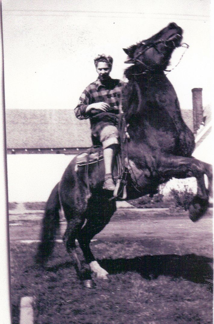 My 84 year old Mama at 19 on her horse in her front yard. My Mama is a bad ass.