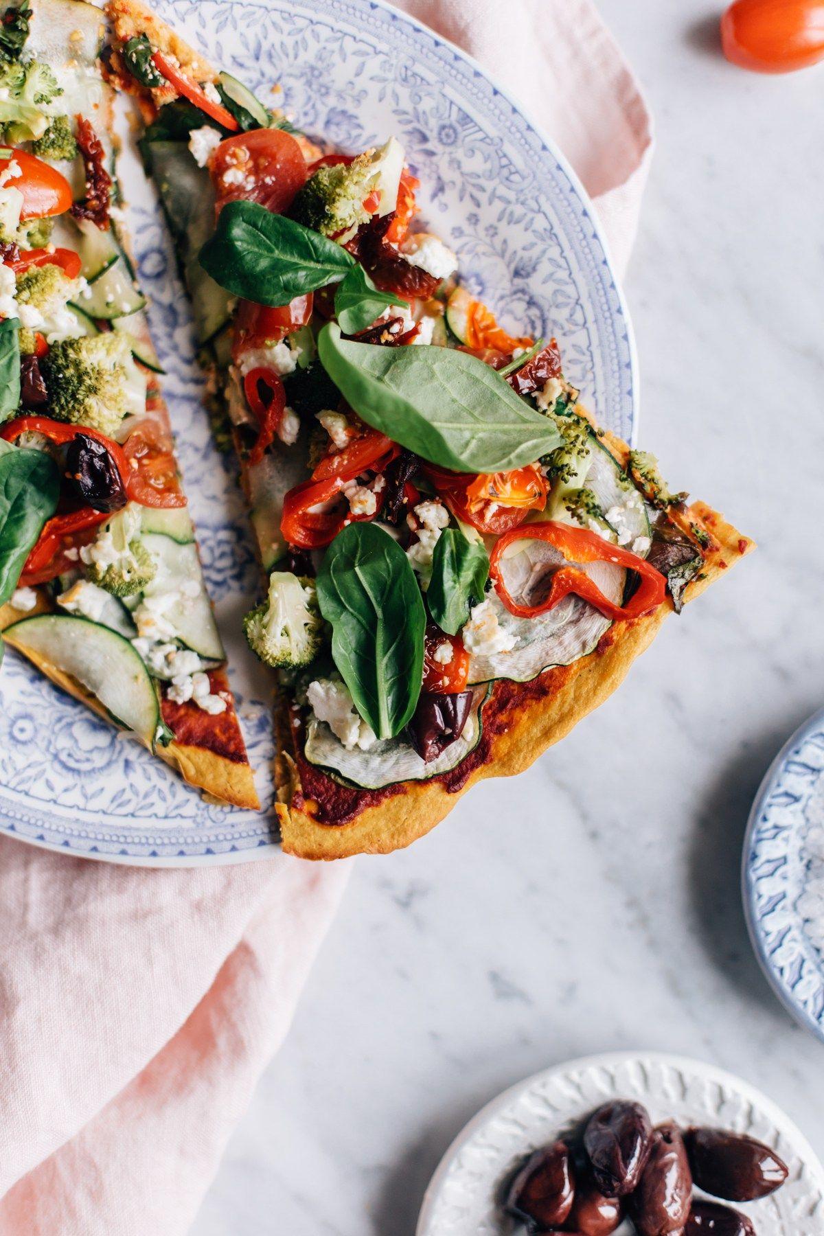 Super Veggie Pizza w/ Sweet Potato Crust