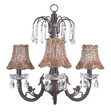 3 Light mini mocha chandelier
