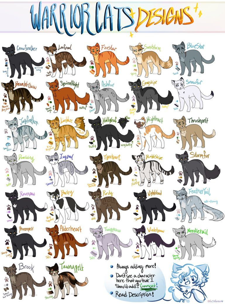 I Still Love Warrior Cats And Always Will Ahhh Feel Free To Use These Designs When Drawing Warriors No Credit Needed Or Anything