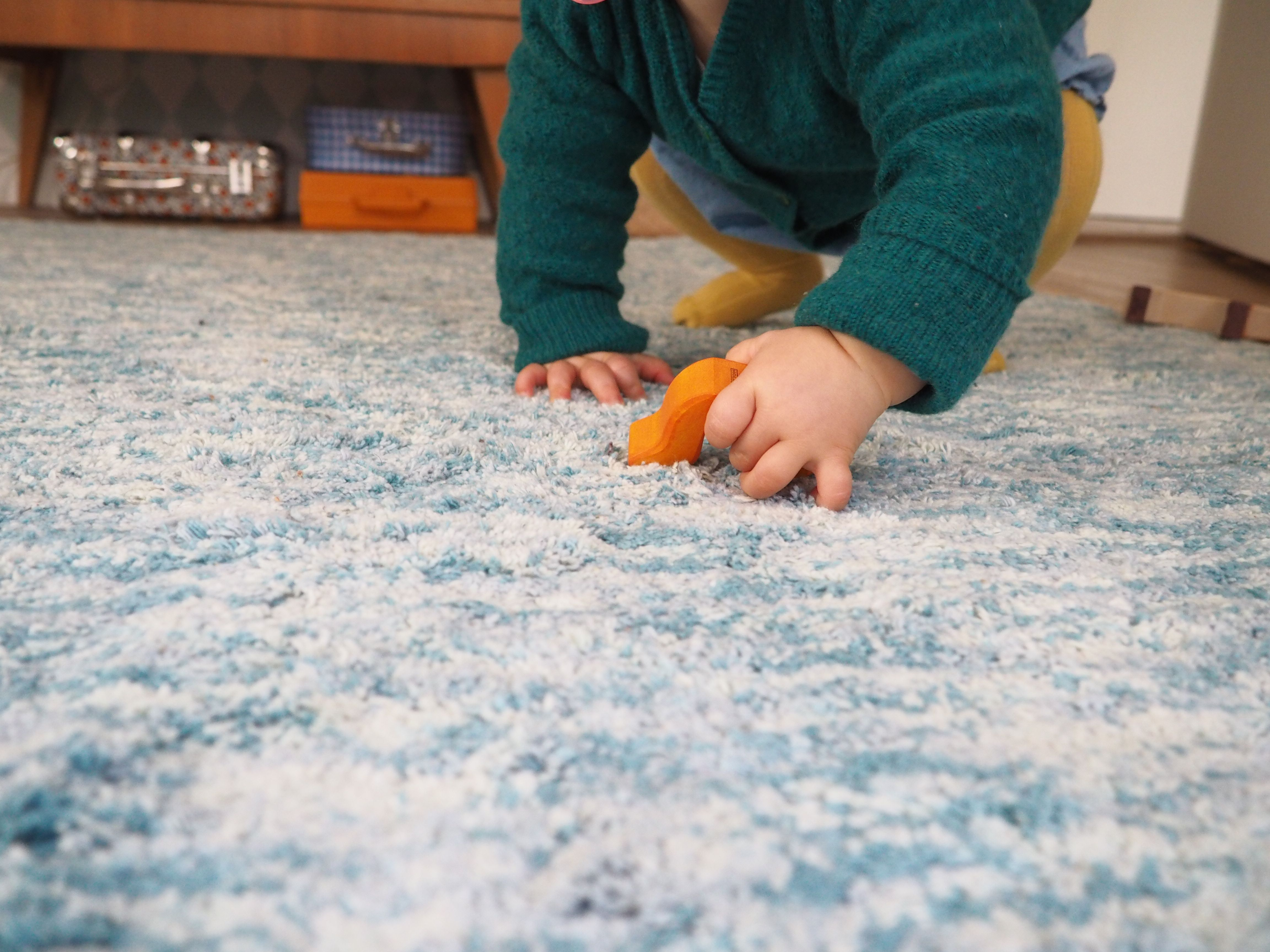 Alfombra lavable Mix Daksh Verde / Washable rug Mix Daksh Emerald ...