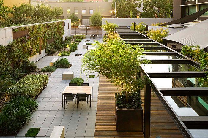 Hotel modera in portland oregon by lango hansen landscape for Bc landscape architects