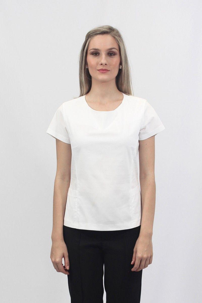 Camisa Feminina - Com bolso - Uniforme profissional BH  faeac86cbb7