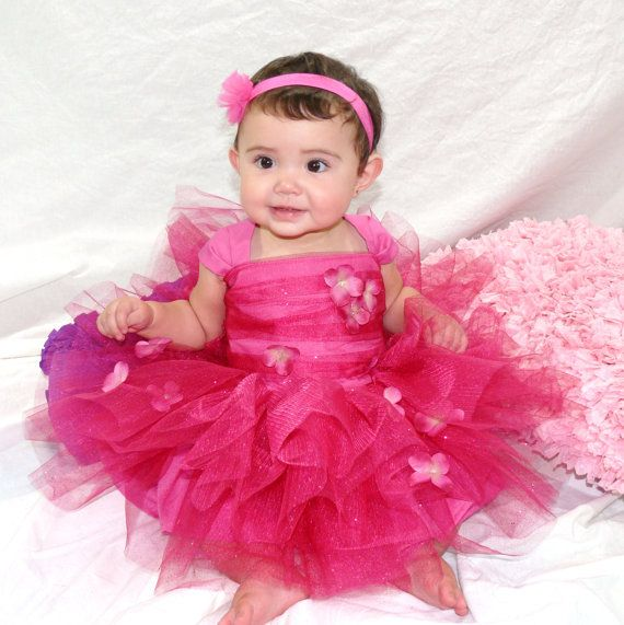 BABY GIRL CASUAL HANDMADE TUTU DRESS  SIZES 0-24 MONTHS PHOTO PROP MANY COLOURS