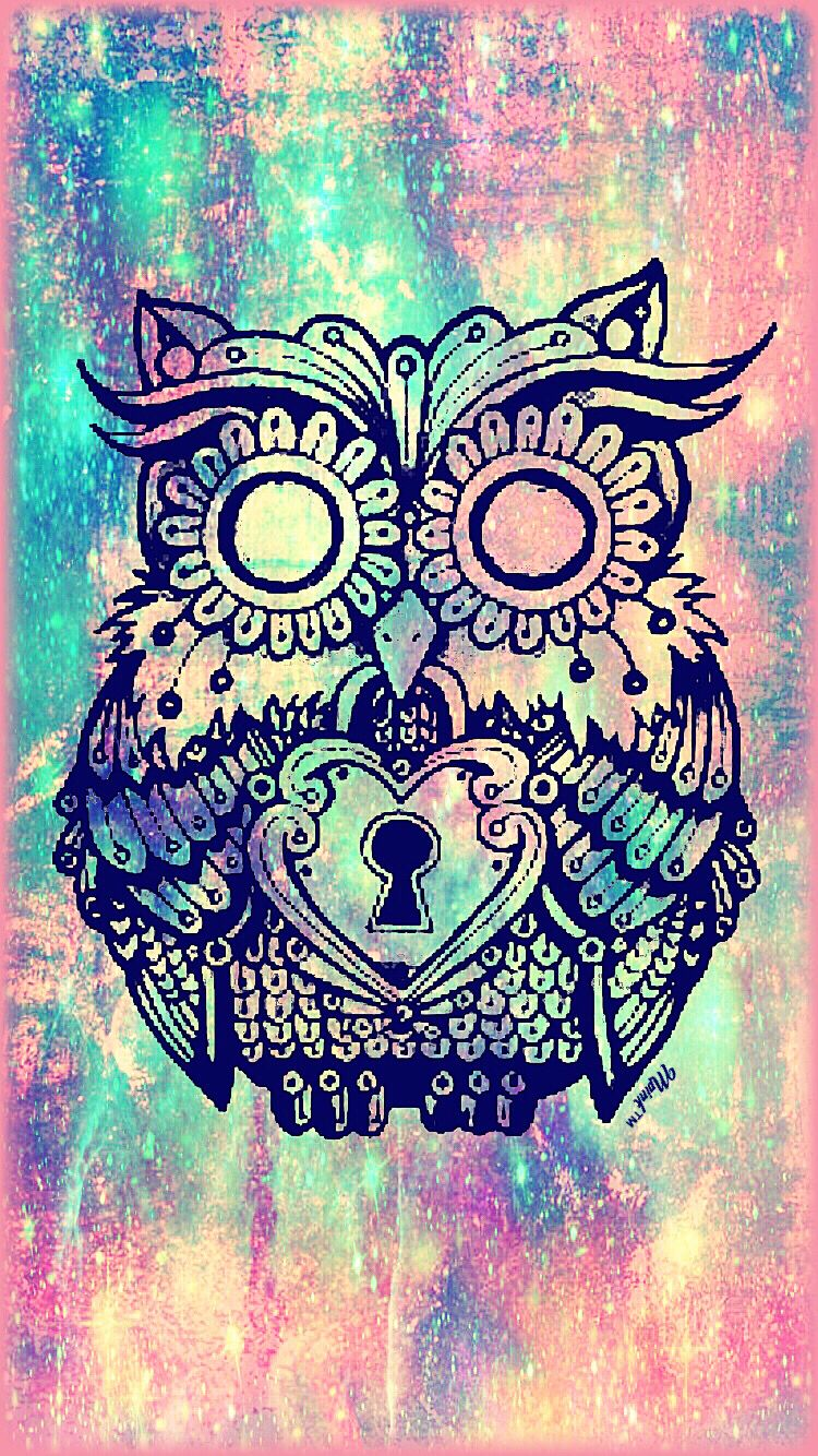 Vintage Owl Galaxy Wallpaper I Created For The App Top Chart
