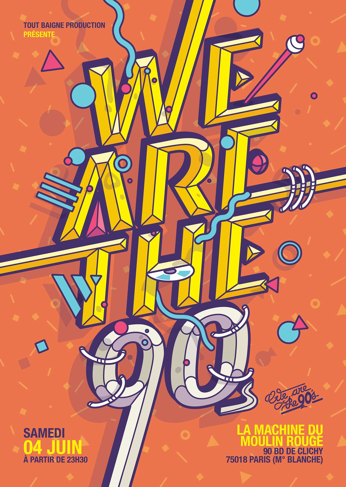 90s poster design - Visuals Wow We Are The 90 S 02 On Behance