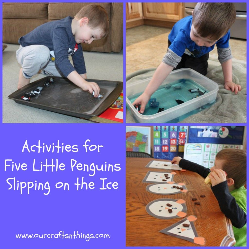 Activities To Go With Five Little Penguins Slipping On