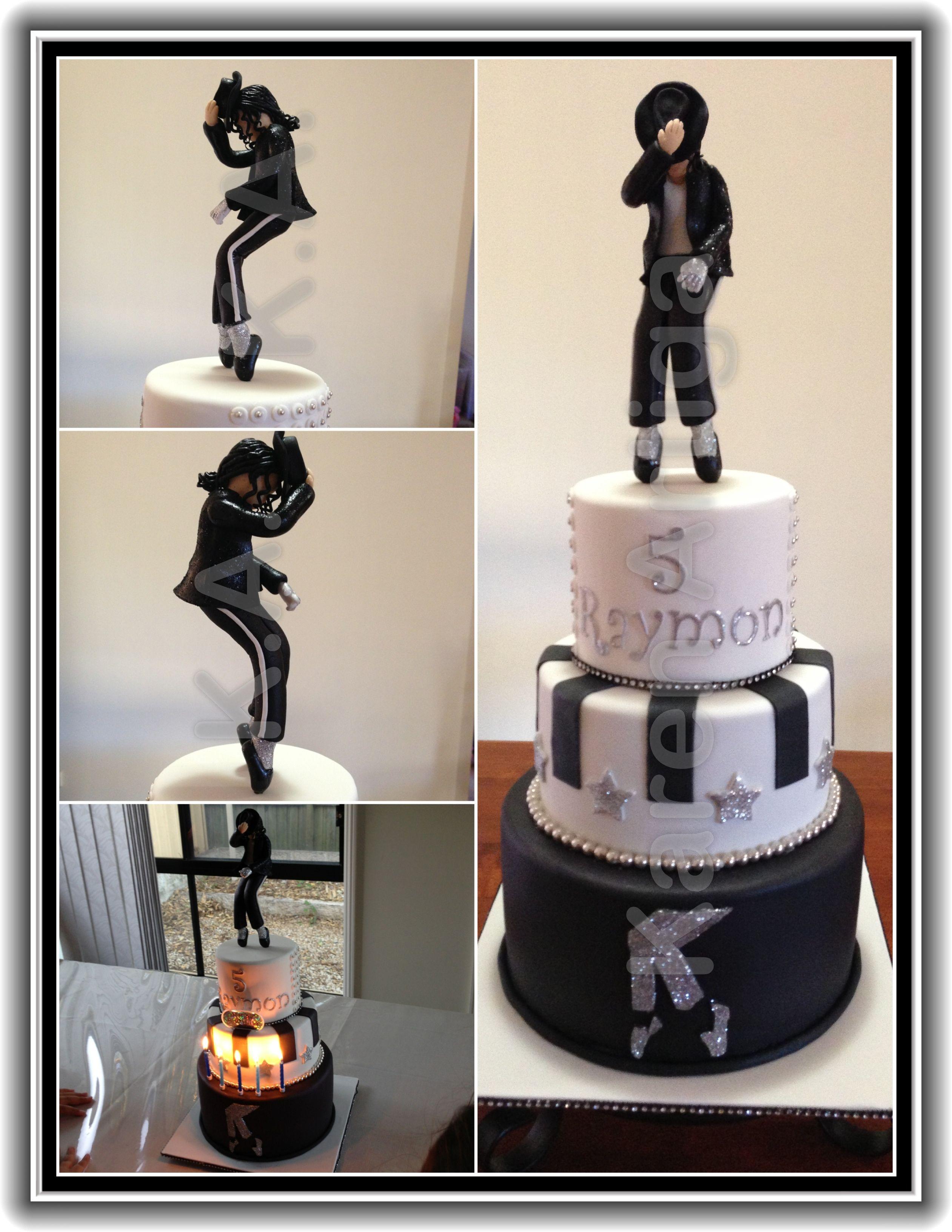 Michael Jackson Birthday Cake For My Little Nephew Raymon MJ Figurine Made Out Of