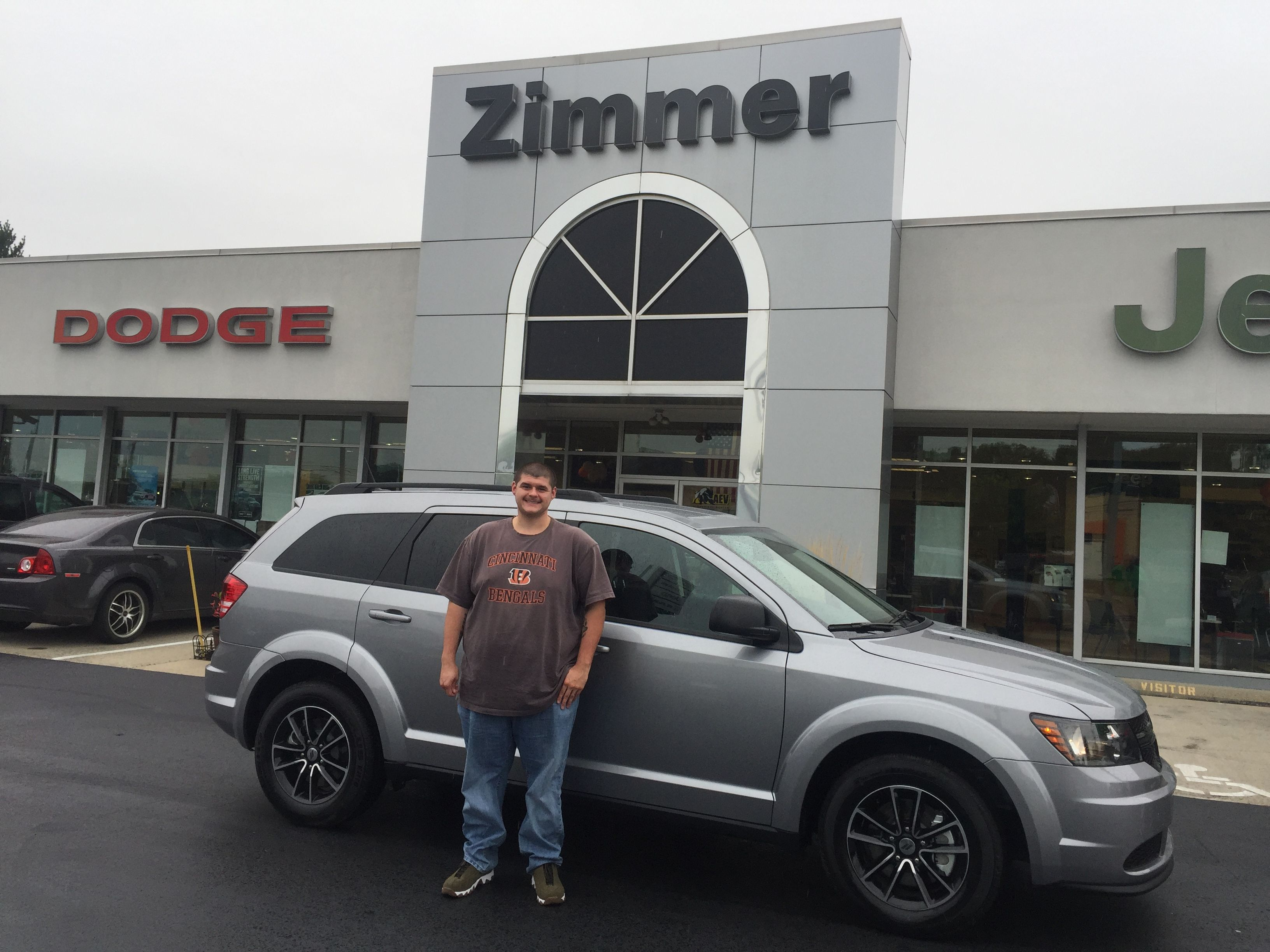 Austin Ferrara Is All Smiles Having Just Bought His New 2018 Dodge Journey He Spoke With Sales Consultant Trisha Moore About W Dodge Journey Jeep Dealer Dodge