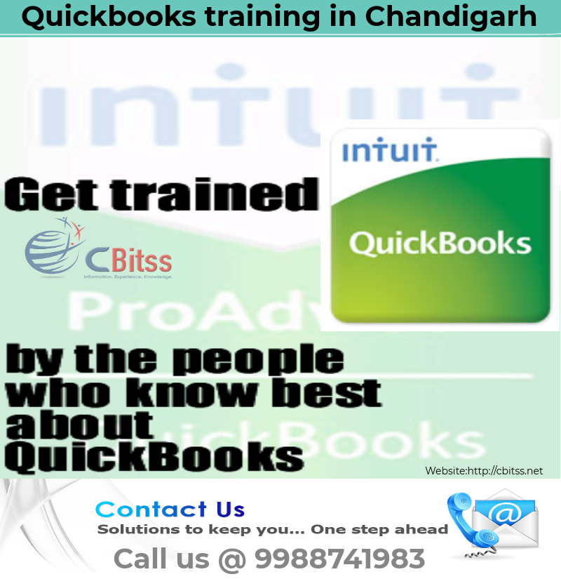 Quickbooks Training In Chandigarh At Cbitss Technologies Sco 23 24 25 Sector 34 A Chandigarh Get Tra Quickbooks Training Quickbooks Online Accounting Software