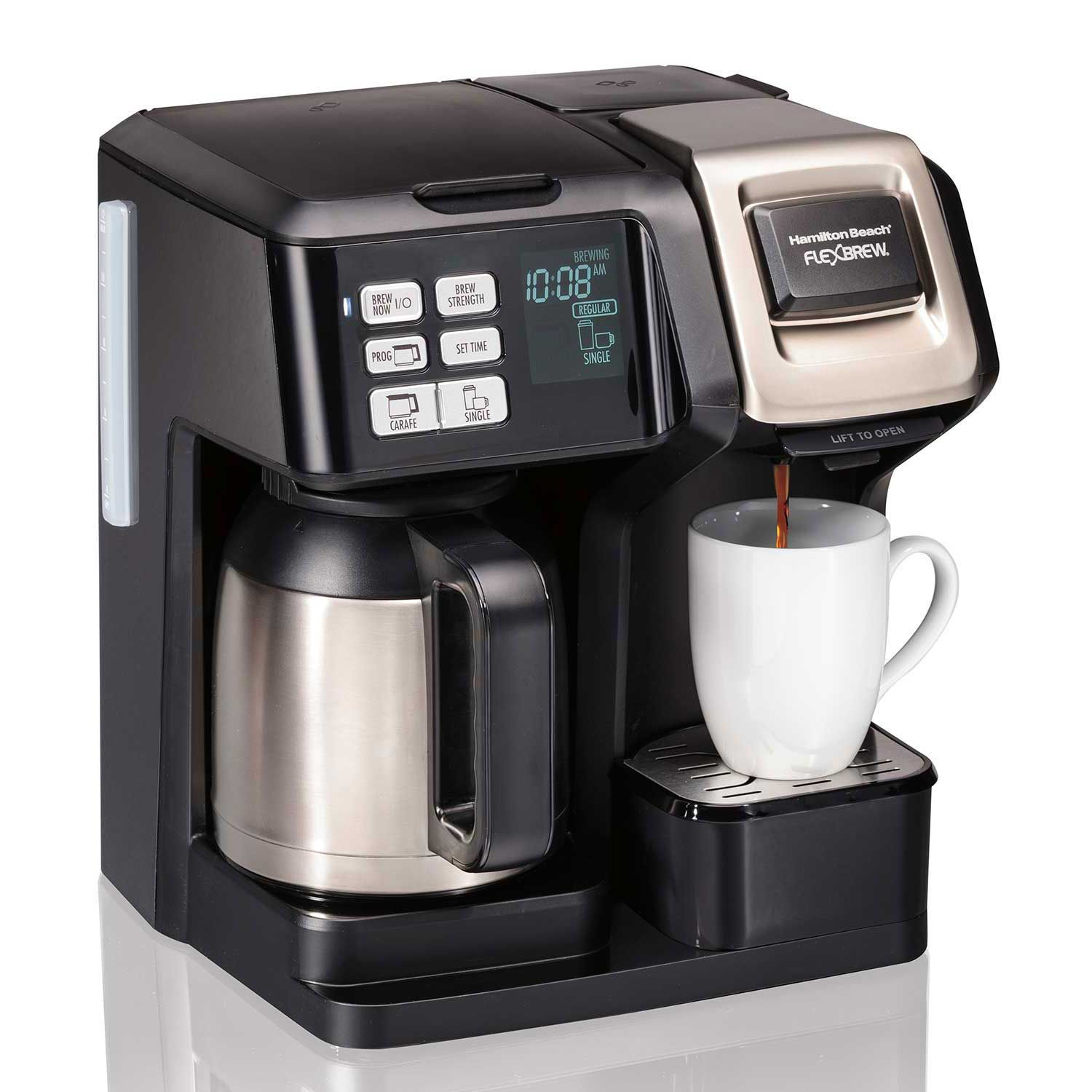 Hamilton Beach FlexBrew® 2Way Coffee Maker with 10Cup