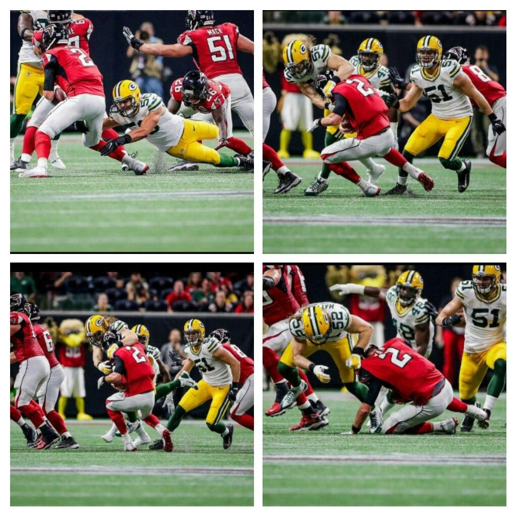Clay Matthews With A Sack Vs The Falcons Clay Matthews Baseball Cards