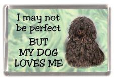 "Hungarian Puli Dog Fridge Magnet /""I may not be perfect BUT.../"" by Starprint"